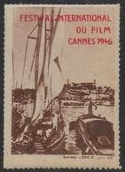 1er FESTIVAL INTERNATIONAL DU FILM - CANNES 1946 - Erinnophilie