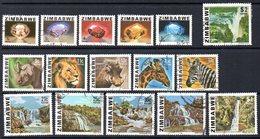 Zimbabwe 1980-3 Definitive Set Of 16, Used, SG 576/90 (BA) - Zimbabwe (1980-...)