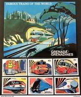 # Grenada 1982**Mi.495-501 Trains , MNH [20;80] - Treinen