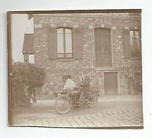 Photographie Moto Side Car Le Treport 76 Photo 6,5x5,5 Cm Env - Automobile