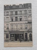 Cpa Bruxelles Restaurant Automatique Gare Du Midi Hôtel 1906 - Pubs, Hotels, Restaurants