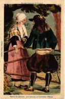 CPA Anciens Costumes De Bretagne, Femme De Locmaria FRANCE FOLKLORE (788072) - Autres
