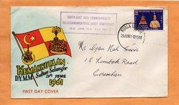 Malaysia 1961 FDC - Malaysia (1964-...)