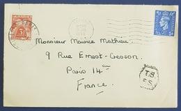 1948 Covers, Eltham -  Paris France, Great Britain - 1902-1951 (Könige)