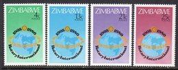 Zimbabwe 1980 75th Anniversary Of Rotary Set Of 4, MNH, SG 591/4 (BA) - Zimbabwe (1980-...)