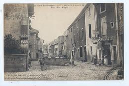 Cpa -   Dpt  -  Gard - BAGNOLS SUR CEZE - - Le Lavoir - Animation Rue Leon Allegre Auberge - (  Selection  )  Rare  1915 - Bagnols-sur-Cèze