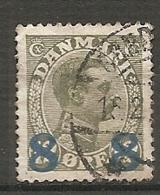 Yv. DK  N°  129   (o)    8o S 12o  Surchargé   Cote  5,25 Euro BE   2 Scans - 1913-47 (Christian X)
