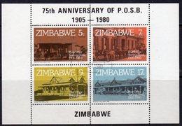 Zimbabwe 1980 75th Anniversary Of PO Savings Bank MS. Used, SG 601 (BA) - Zimbabwe (1980-...)