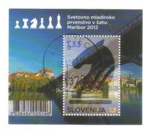 8395- Slovenija , Minisheet 2012 Michel BL66, Slowenien , Slovenia – Chess - Slovenia