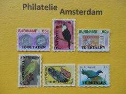 Suriname 1987, POSTAGE DUE / PORT / FAUNA, Mi 58-63, ** - Suriname