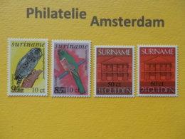 Suriname 1987, OVERPRINT / FAUNA, Mi 1201-04, ** - Suriname