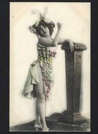 Postal De Actriz Teatro PORTUGAL. Old Postcard STAGE ACTRESS W/sexy Dress.1900s - Angola