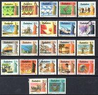 Zimbabwe 1985-8 Definitives Set Of 22, Used, SG 659/80 (BA) - Zimbabwe (1980-...)