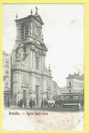 * Sint Joost Ten Node - Saint Josse (Bruxelles) * église Saint Josse, Animée, Tram, Vicinal, Paardentram, TOP, Animée - St-Josse-ten-Noode - St-Joost-ten-Node