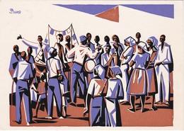 POSTCARD PORTUGAL - CABO VERDE - CAPE VERDE - SÃO VICENTE - FESTA DE S. JOÃO - 1969 ( NEVES E SOUSA ) - Cap Vert