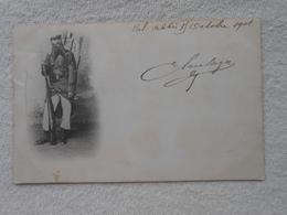 Cpa Legion étrangère  Legionnaire Carte Timbrée En 1901 De  Sidi Bel Abbes Algerie - Régiments