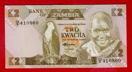 ZAMBIA 2 KWACHA ND(1980-1988) P-24c UNC - NEUF - Sambia