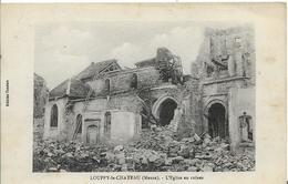 55 LOUPPY LE CHATEAU EGLISE EN RUINES DESTRUCTION GUERRE 14/18 - France