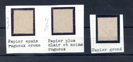 France - Semeuse N°129 - 3 Types De Papier - (F088F) - 1903-60 Semeuse Lignée