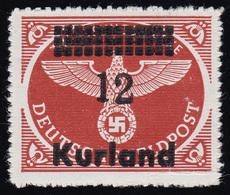 Kurland 4By III Feldpostpäckchen-Marke Mit Aufdruckfehler III, **, Signiert - Occupation 1938-45