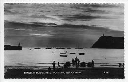 Sunset At Bradda Head, Port Erin, Isle Of Man. - Valentine  R 367 - Isle Of Man