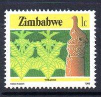 Zimbabwe 1985-8 Definitives 1c Tobacco Value, MNH, SG 659 (BA) - Zimbabwe (1980-...)