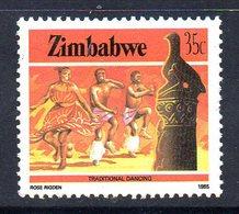 Zimbabwe 1985-8 Definitives 35c Traditional Dance Value, MNH, SG 675 (BA) - Zimbabwe (1980-...)