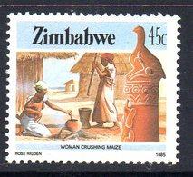 Zimbabwe 1985-8 Definitives 45c Maize Crushing Value, MNH, SG 676 (BA) - Zimbabwe (1980-...)