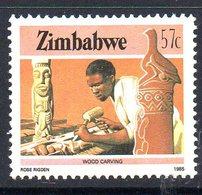 Zimbabwe 1985-8 Definitives 57c Wood Carving Value, MNH, SG 677 (BA) - Zimbabwe (1980-...)