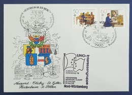 1979 Covers, UNO, Europa Congres, Heidenheim, Newport Clichy, St.Polten, St.Gilles, Germany, Allemagne Deutschland - [7] République Fédérale