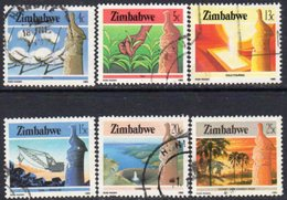 Zimbabwe 1985-8 Definitives Perf. 14 Values Part Set Of 6, Used, Between SG 661a/72a (BA) - Zimbabwe (1980-...)