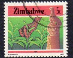 Zimbabwe 1985-8 Definitives Perf. 14 5c Tea Production Value, Used, SG 662a (BA) - Zimbabwe (1980-...)