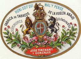 1893-1894 étiquette Pour Boite à Cigare Havane TINCHANT ANVERS - Etiketten