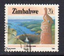 Zimbabwe 1985-8 Definitives Perf. 14 25c Zambesi River Sunset Value, Used, SG 670a (BA) - Zimbabwe (1980-...)