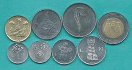 San Marino - 1987 - 1, 2, 5, 10, 20, 50, 100 & 500 Lire (KMs 201-207 & 209) - Saint-Marin