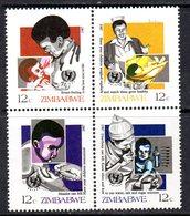 Zimbabwe 1987 Child Survival Campaign Block Of 4, MNH, SG 706/9 (BA) - Zimbabwe (1980-...)