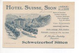LITHO Nota Hotel Suisse Sion Avenue De La Gare Schweizerhof Sitten Werbung A. Nicollier-Darbellay - VS Valais