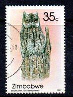 Zimbabwe 1987 Owls 35c Value, Used, SG 713 (BA) - Zimbabwe (1980-...)