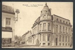 +++ CPA - PERUWELZ - La Banque Nationale Et Rue De La Station   // - Péruwelz