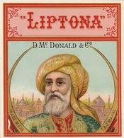 1893-1894 étiquette Pour Boite à Cigare Havane LIPTONA - Etiquettes