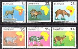 Zimbabwe 1987 African Duikers Set Of 6, MNH, SG 718/23 (BA) - Zimbabwe (1980-...)
