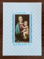 AJMAN, Peinture, Tableaux, Tableau, RAPHAEL, Michel N° 332 ** MNH - Madonne