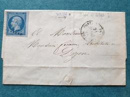 1858 - Lettre à Architecte  DIJON Côte D'or - 1849-1876: Classic Period