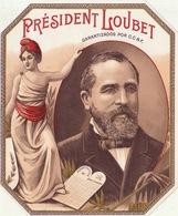 1893-1894 étiquette Pour Boite à Cigare Havane PRESIDENT LOUBET - Etiquettes