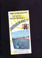 Ancien Depliant Touristique Avec Photos Chatelaillon Plage - Dépliants Touristiques