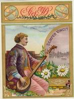 1893-1894 étiquette Pour Boite à Cigare Havane SEMPER VINCIT - Etiquettes