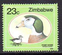 Zimbabwe 1988 Wild Ducks 23c Value, MNH, SG 741 (BA) - Zimbabwe (1980-...)