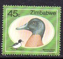 Zimbabwe 1988 Wild Ducks 45c Value, MNH, SG 745 (BA) - Zimbabwe (1980-...)