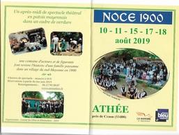Calendriers De Poche 2019 - Petit Format - Noce 1900 ATHÉE 53 - Voir Scan - Recto, Verso - - Calendriers