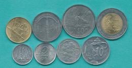 San Marino - 1989 - 1, 2, 5, 10, 20, 50, 100 & 500 Lire (KMs 231-237 & 239) - Saint-Marin